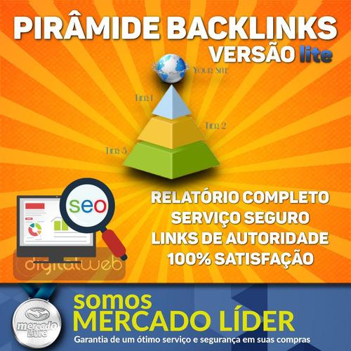 pirâmide backlinks seo lite seguros alta qualidade