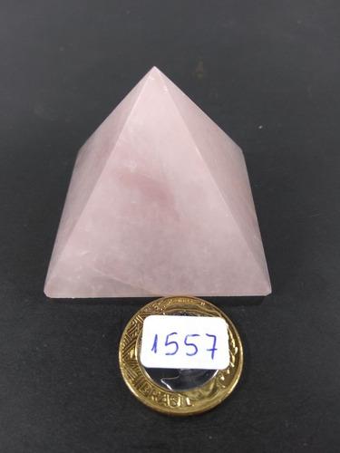 pirâmides de quartzo rosa 5,5cm pedra p/feng shui casa egito