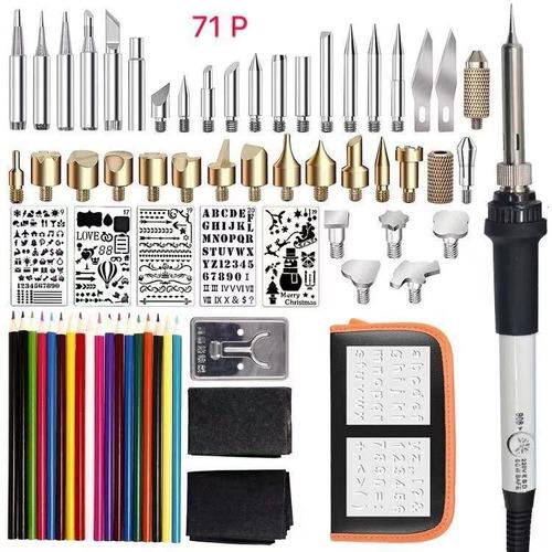pirograbador madera soldador punto lápiz 60w 71 piezas