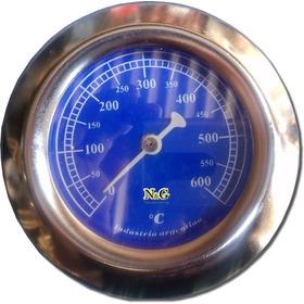 Pirometro Termometro Horno De Barro 600º Bulbo Corto Puerta