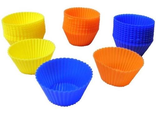 pirotines de silicona pack de 15 horno ideal muffins cupcake