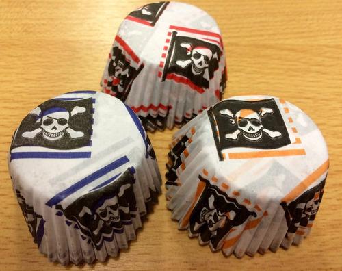 pirotines pirata nº8 x 1000 para mini cupcakes, muffins