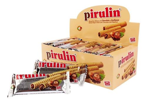 pirulin chocolate porción tres  display 25u de 16g