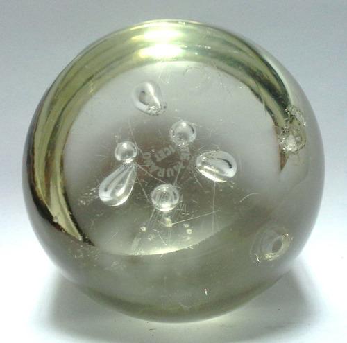 pisapapeles cristal murano transparente burbujas