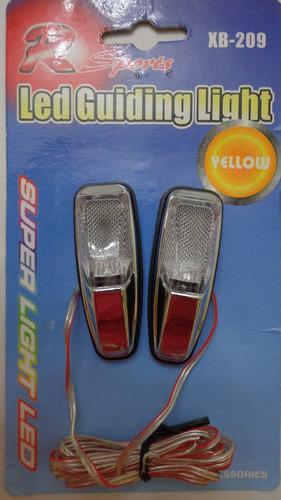 pisca adesivo led amarelo para moto