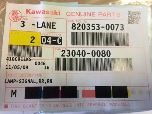 pisca dianteiro direito kawasaki concours 1400  2008 a 2013