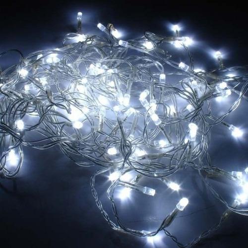 pisca led iluminacao natal natalino 100 lampadas fixo