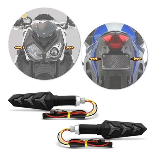 pisca moto led sequencial cg160 cg150 cg125 fan150 fan125