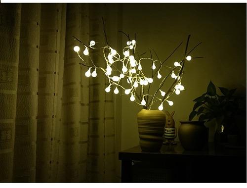 pisca-pisca com 40 bolinhas de led luz amarela e fio branco