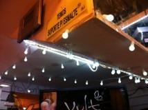 pisca-pisca com 40 bolinhas de led luz branca fio branco110v