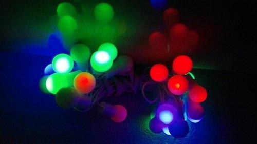 pisca-pisca de bolinha fio branco luz colorida lâmpadas led
