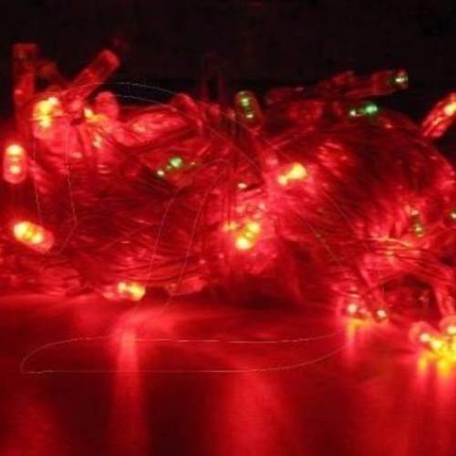 pisca pisca natal 100 leds vermelho  cordão 8 funções 10m