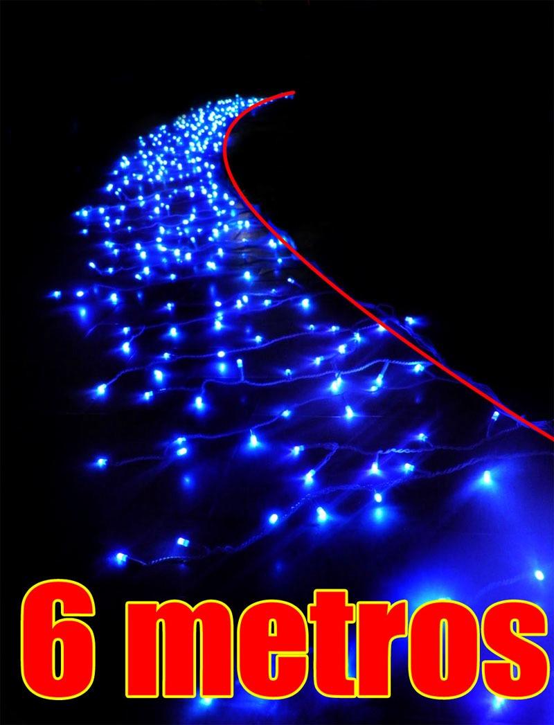 Cascata Pisca Pisca Led Azul 400 Lampadas Natal Decoracao R 96  ~ Pisca Pisca No Quarto Onde Comprar
