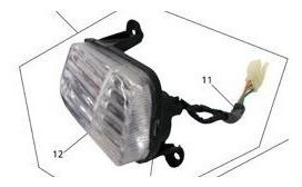 pisca seta dianteira direita traxx  jl 50 completo c lampada