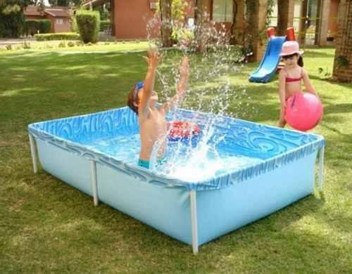 piscina 1000 litros plastica piscinas inflavel retangular