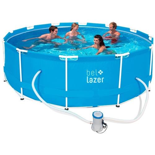 piscina 10000 litros redonda + filtro + lona + cobertura