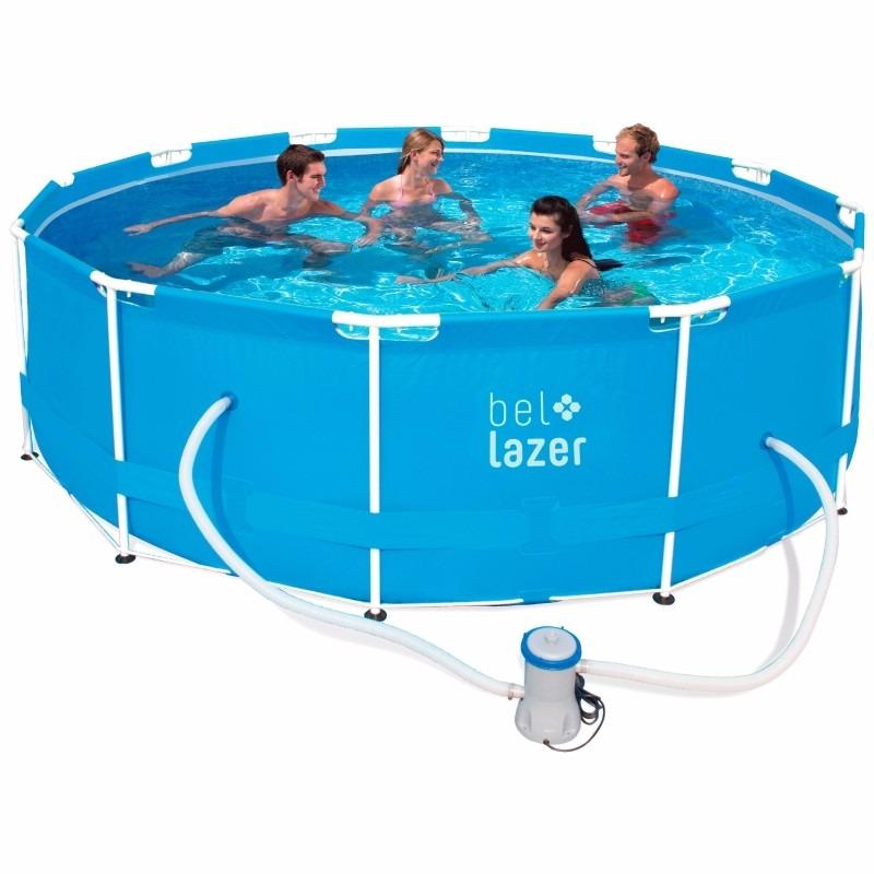 piscina 10000 litros redonda filtro lona cobertura