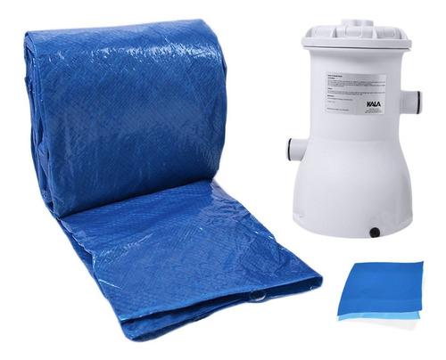 piscina 10200 lts inflável c/ filtro 220v capa kala - 195642