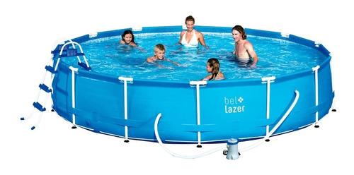 piscina 13000l + filtro + cobertura + forro e escada belfix