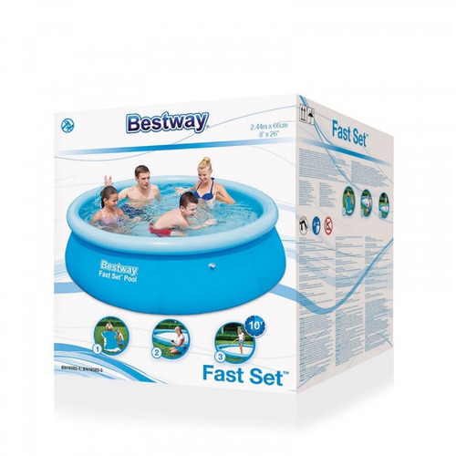 piscina 244 x 66 cm inflable bestway redonda