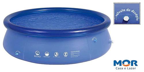 piscina 4600 litros mor inflável pvc adulta azul pvc