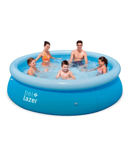 piscina 4600l inflável c/kit bomb filtr+cap+lona 110v belfix