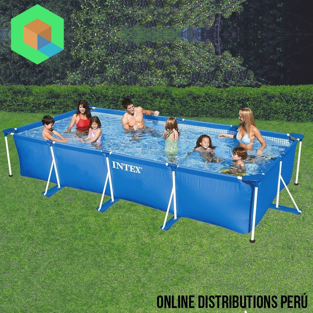 Piscina armable intex 4 5 x 2 20 x 84 capacidad de 7127 l for Piscina estructural intex