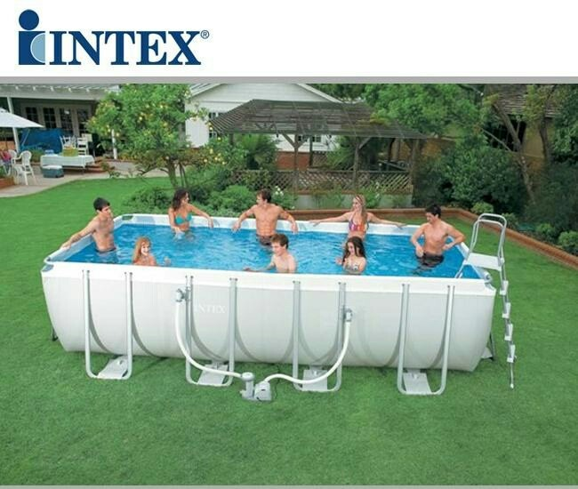 Piscina armable rectangular intex mas filtro kit completo for Prezzi piscine intex