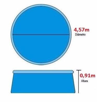 piscina armacao ( estruturada ) 13.000l 220v + acessorios
