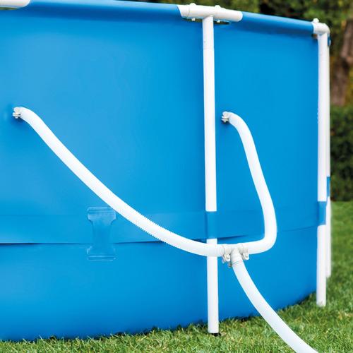 piscina armação metal galvanizado 4.485l com bomba e filtro