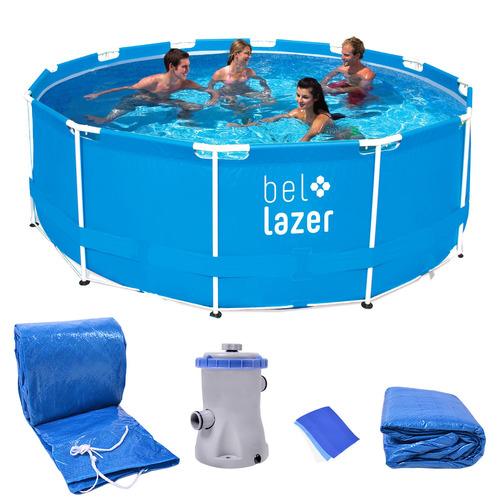 piscina armação redonda 10000l kit/filtro 510200 belfix 127v