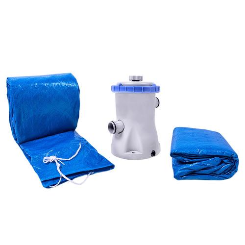 piscina armação redonda 13000l com kit 510300 belfix 127v