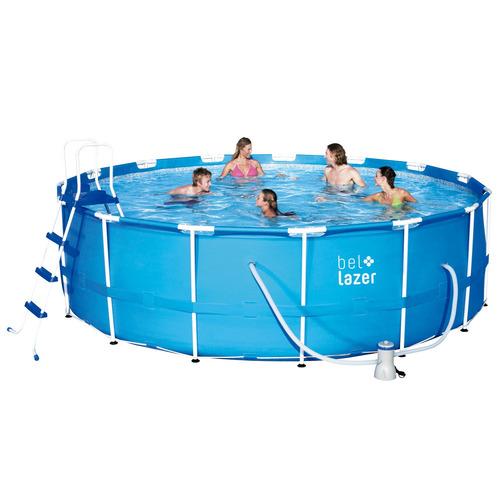 piscina armação redonda 16000l com kit 510400 belfix 127v