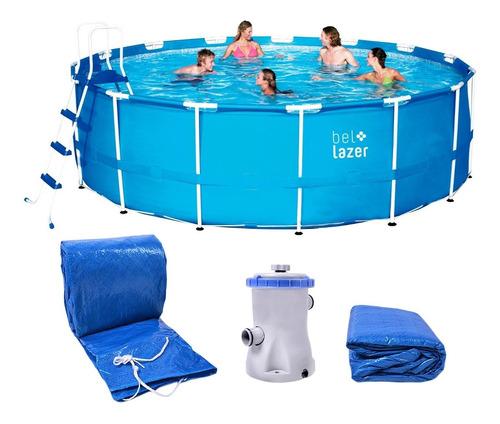 piscina armação redonda 16000l com kit 511400 belfix 220v