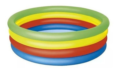 piscina banheira infantil inflável 550l arco-íris 1785 mor