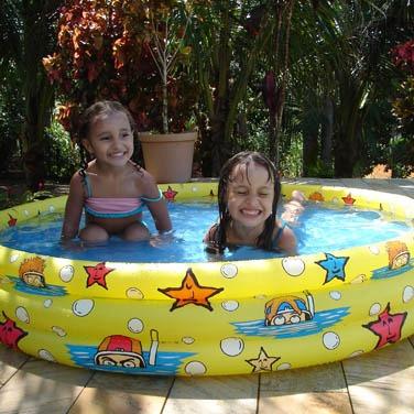 piscina banheira inflável infantil 300 litros - nautika