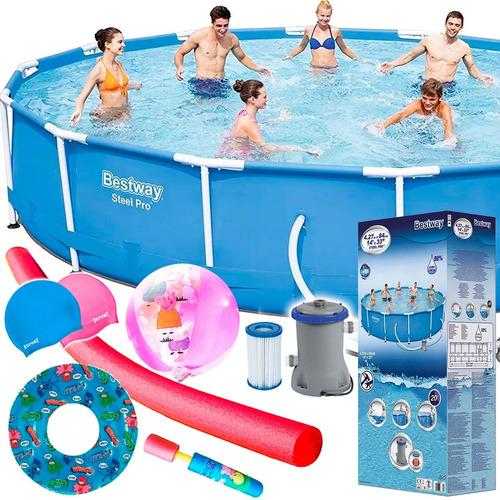 piscina bestway estructural 10220 l+ bomba + regalos el rey