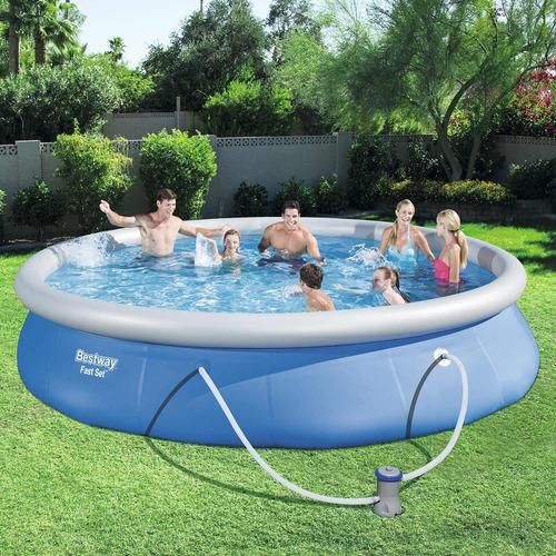 piscina bestway fast set 57313 com filtro 220v 9.677 l