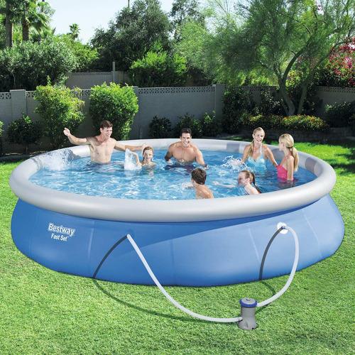 piscina bestway fast set 57313 com filtro 220v 9.677 litros