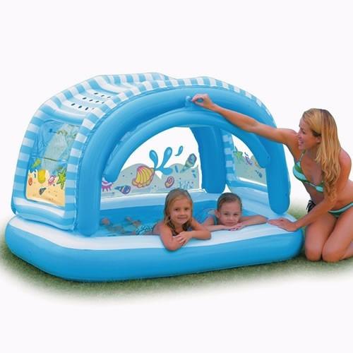piscina boia infl vel c cobertura p beb intex bombaForPiscina P Bebe