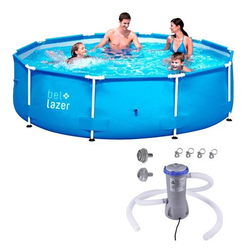 piscina c/ armação 5000 l e bomba de filtragem belfix  127v