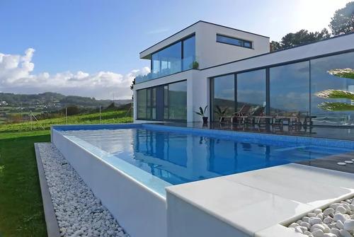piscina casas cascadas full drywall bombas y filtros remodel