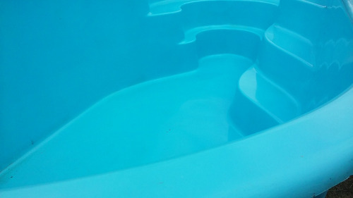 piscina casco 3.80 x 2.60 en fibra impecable oferta