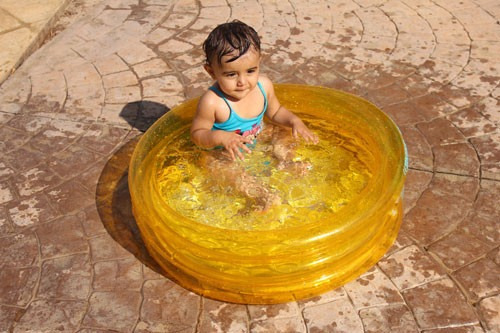 piscina colméia de vinil inflável azul - igui