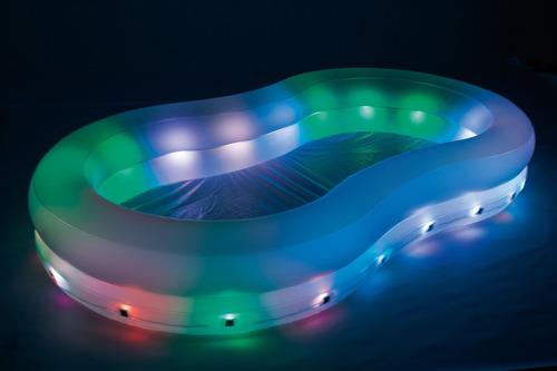 Piscina color wave con luces 54135 en mercado for Piscina wave
