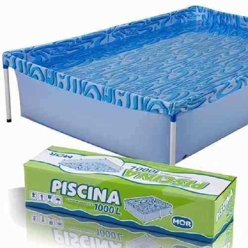 piscina com armação 1000 litros 189 x 126 x 42 cm mor