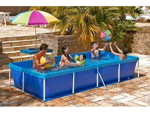 piscina com armação 3000 litros com kit adesivo reparo mor
