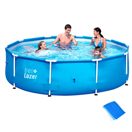 piscina com armação 5000 l com kit reparo 510000 belfix
