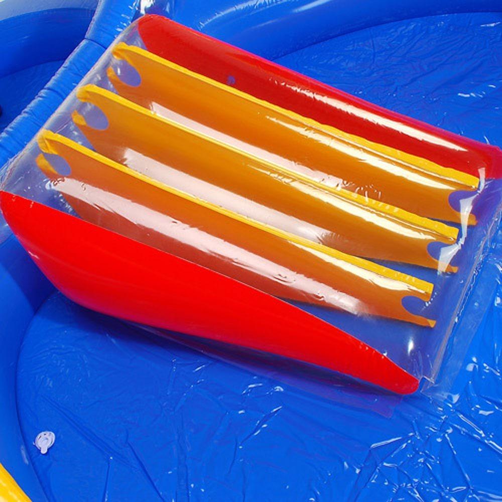 Piscina com escorregador playcenter infl vel 6 em 1 intex for Piscina inflavel arco iris intex playground com escorregador