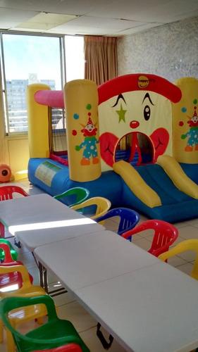piscina con pelotitas, sillas, mesitas y castillo, arriendo
